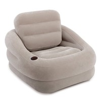 Intex Inflatable Khaki Accent Chair with Cup Holder and Water Base | 68587EP - Walmart.com