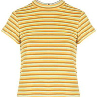 Striped Funnel Neck Tee by Topshop Archive - Multi