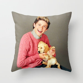 Niall Horan One Direction Labrador Retriever Puppy Throw Pillow by Toni Miller | Society6