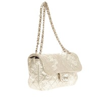 Chanel Limited Edition Ice Cube Flap Bag Quilted Calfskin Jumbo