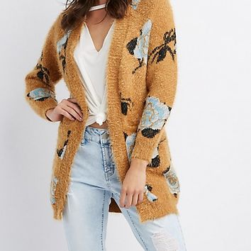 Floral Open-Front Cardigan | Charlotte Russe