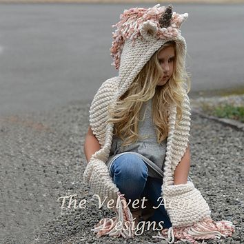 Children Hat knitting Thick Hat Unicorn Cloak Baby Caps scarf Snow hats Autumn Winter Warm and comfortable Child hats B04