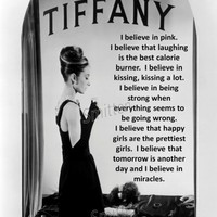 Audrey Hepburn I believe in Pink Quote and other quotes! 4x6, 5x7 or 8x10 Art Print