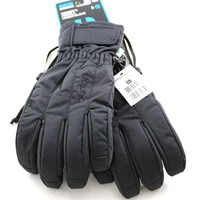 Burton Snowboard Profile Under Women's Black Ultrashell Heavy Duty Grip Ski Winter Gloves L