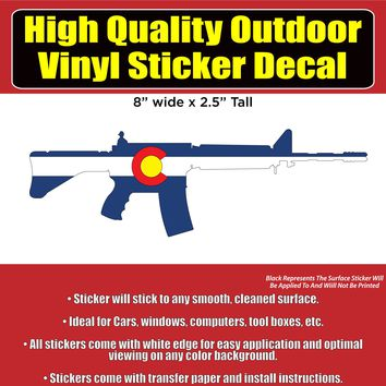 AR 15 Colorado and USA design Vinyl Car Window Laptop Bumper Sticker Decal