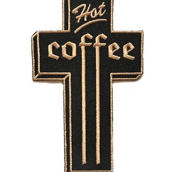 Hot Coffee Cross Patch