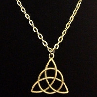 Antiqued Bronze Celtic knot necklace