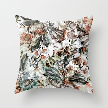 Orchidaceae Throw Pillow by VS Fashion Studio