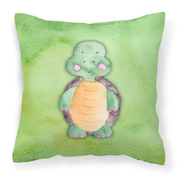 Turtle Watercolor Fabric Decorative Pillow BB7382PW1818
