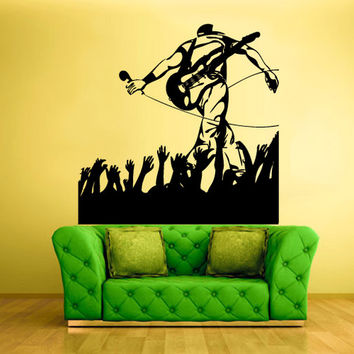 rvz516 Wall Vinyl Sticker Bedroom Decal Music Man Concert Picture