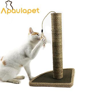 Cat Toy Scratching Post Climbing Furniture With One Feather For Cat Play With Scratching Post For Cat