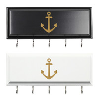 White Anchor Hanging Key Holder