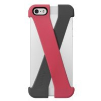 Quirky PCRS1-PKGY Crossover Cell Phone Case for iPhone 5 - Retail Packaging - Pink/Gray