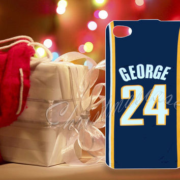Adidas NBA Indiana Pacers 24 Paul George Jersey - for iPhone 4/4s, iPhone 5/5s/5c, Samsung S3 i9300, Samsung S4 i9500 Hard Plastic Case
