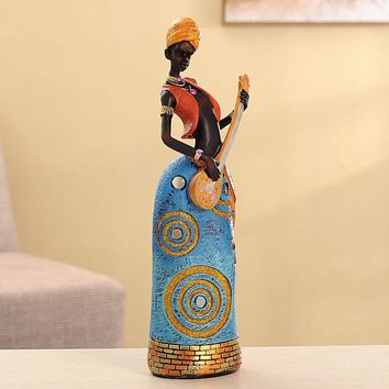 34cm Height Polyresin Africa Beauty Resin crafts