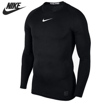 Original New Arrival  NIKE AS M NP TOP LS COMP Men's T-shirts Long sleeve Sportswear