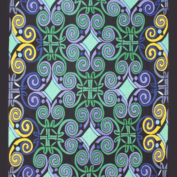 Sunshine Joy Celtic Mardi Gras Tapestry - 60x90 Inches - Beach Sheet - Hanging Wall Art