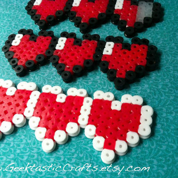 Zelda Heart Meter Magnet, Keychain or Wall Art: Pick your Health and Color