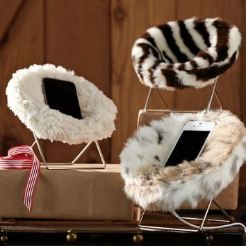 Faux Fur Mini Hang-A-Round Phone Chair