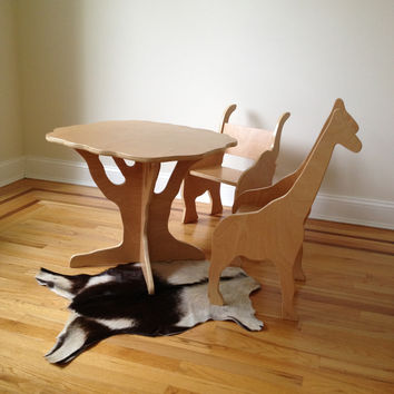 TABLE AND TWO ANIMAL CHAIRS- sale pricing furniture set