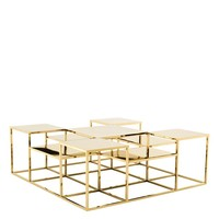 Gold Multi Level Coffee Table | Eichholtz Avian