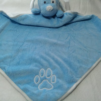 Baby Blanket Blue Puppie  Minkie and Jersey Baby Boy
