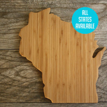 Wisconsin Shaped State Cutting Board