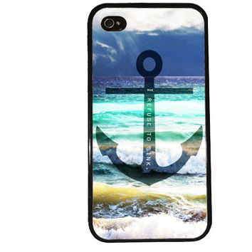 Anchor Case / Refuse to Sink iPhone 4 Case Ocean iPhone 5 Case iPhone 4S Case iPhone 5S Case Cute Quote Phone Case