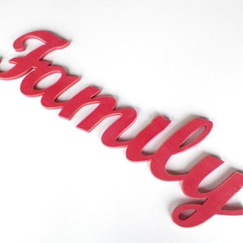 family wood sign wood letters home decor sign pink decor woo  sc 1 st  wanelo.co : family wooden wall art - www.pureclipart.com