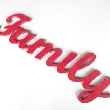 family wood sign wood letters home decor sign pink decor woo  sc 1 st  wanelo.co & Best One Word Wooden Wall Signs Products on Wanelo