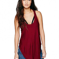 Burgundy Vest With Scoop neckline
