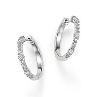 Bloomingdale'sDiamond Hoop Earrings in 14K White Gold, .50 ct. t.w.