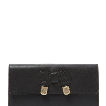 See by Chloe Women's Leather Bow Continental Wallet - Black