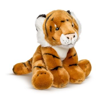 12 Inch Stuffed Tiger Plush Floppy Animal Kingdom Collection
