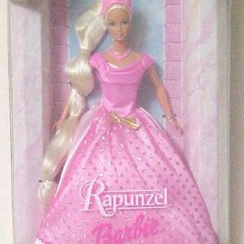 Barbie Rapunzel Pink Gown with Gold Glitter Pink Crown