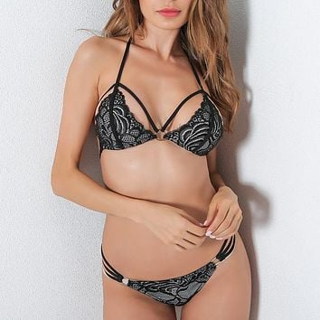 Hot Deal Cute On Sale Sexy Set Simple Design Stylish Lingerie Exotic Lingerie [152638291993]
