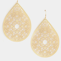 Tear Drop Filigree Cut Dangle Earring