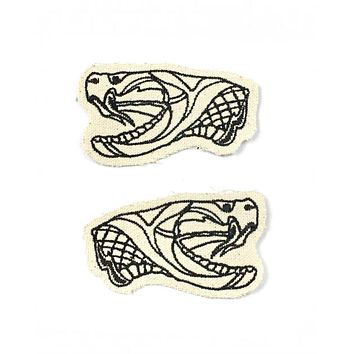 Snake Heads Canvas Patch Set