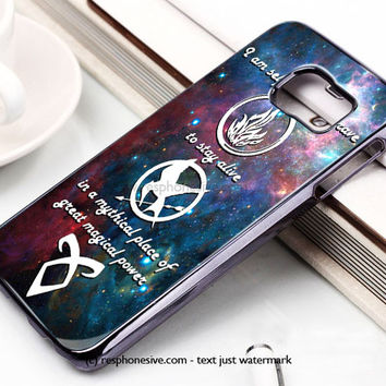 Divergent Tris Tattoo Ravens Quote Samsung Galaxy S6 and S6 Edge Case