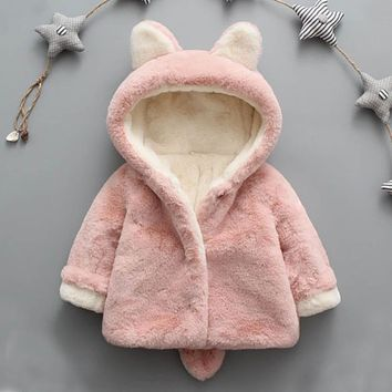 Baby Infant Girls Boys Autumn Winter Hooded Coat Cloak Jacket Thick Warm Clothes