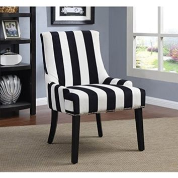 Coaster Home Furnishings Coaster Home Furnishings Accent Chair, Black/Navy and White from Amazon | BHG.com Shop