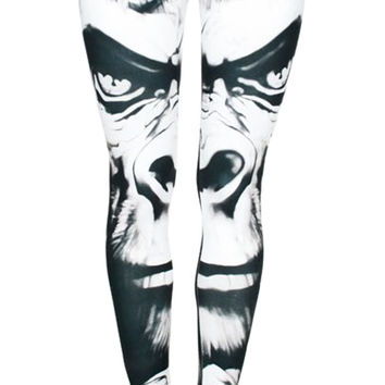Gorilla Face Leggings Design 590