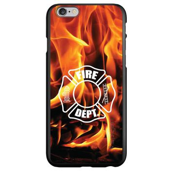 DistinctInk® Spigen ThinFit Case for Apple iPhone or Samsung Galaxy - Flames Fire Department