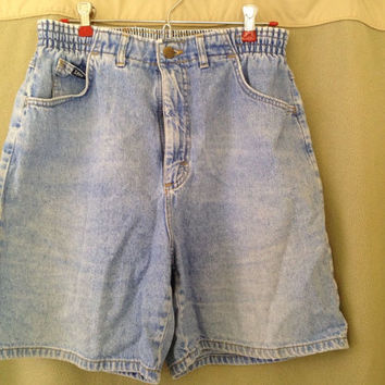 Vintage Lee Jeans Denim Shorts Mom Jeans High Waist Size 12 M