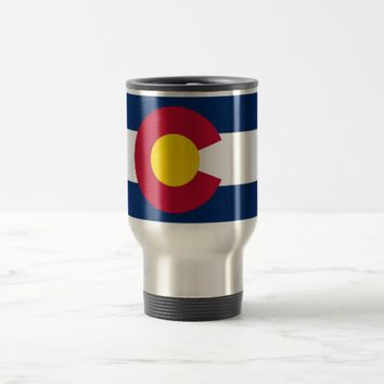 Travel Mug with Flag of Colorado State - USA