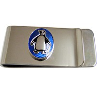 Detailed Penguin Bird Money Clip