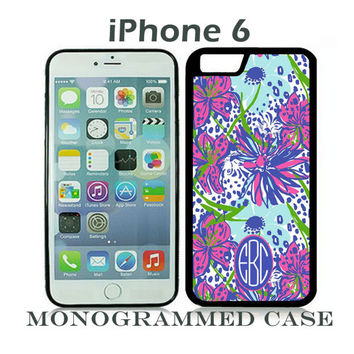Monogram iPhone 6 Tough Case Personalized Phone Case iPhone 6 Plus Lilly Pulitzer Inspired Monogrammed iPhone 6 Case, Iphone 6 Case #2396