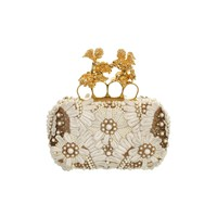 Embroidered Angel Knucklebox Clutch  Alexander McQueen | Clutch | Bags |