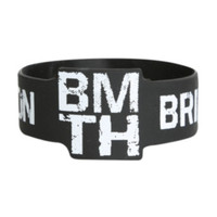 Bring Me The Horizon Die-Cut BMTH Logo Rubber Bracelet