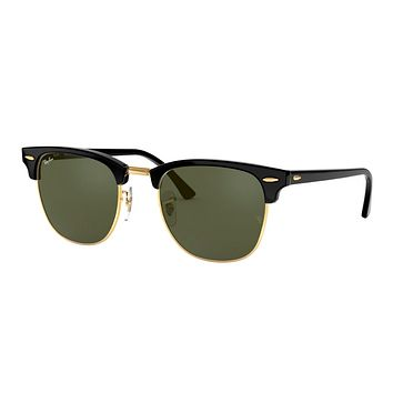 RAY-BAN Original Black Clubmaster RB 3016 W0365
